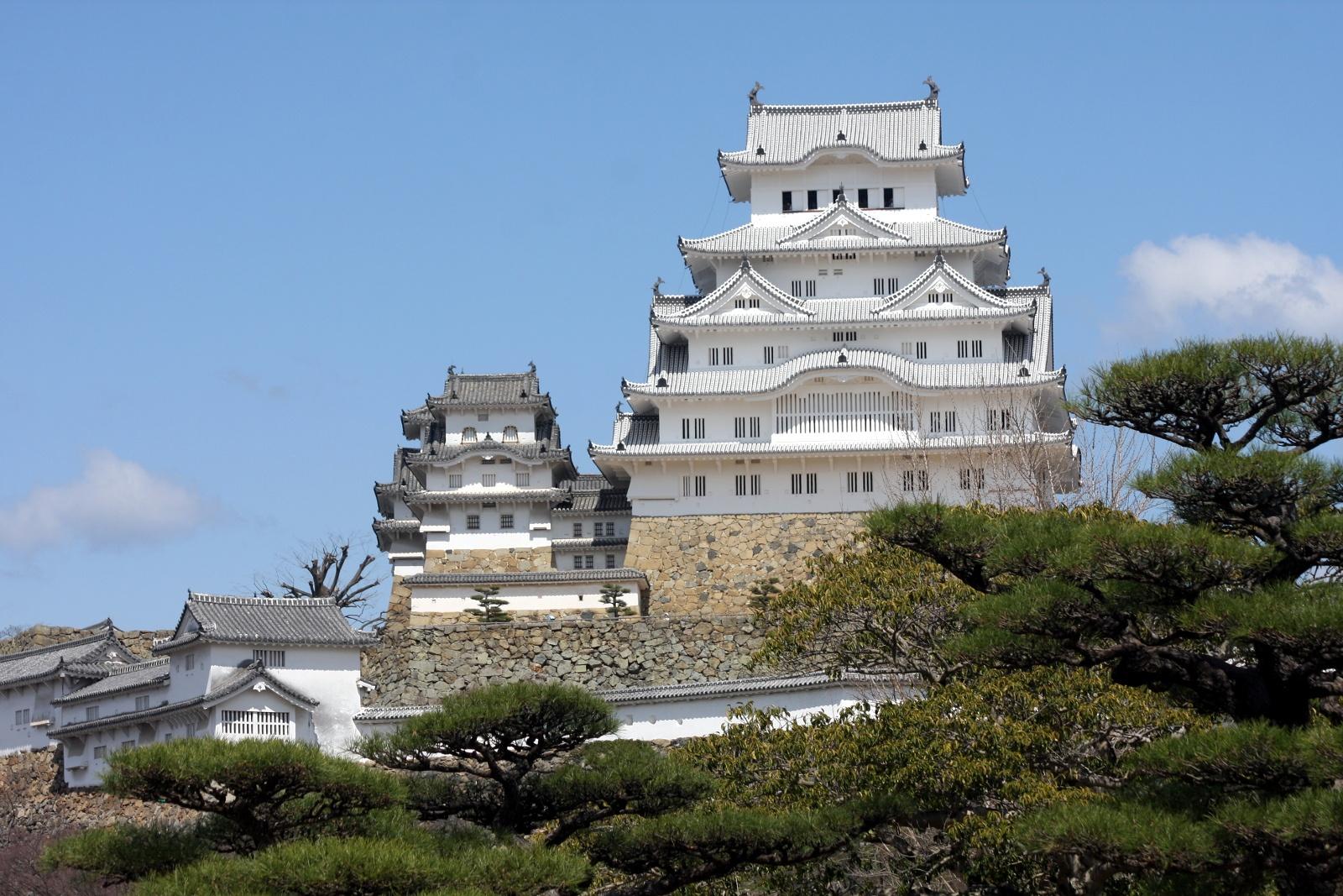 Ciekawe miejsca wJaponii: zamek Himeji-jō (Zamek Białej Czapli), Himeji, prefektura Hyogo