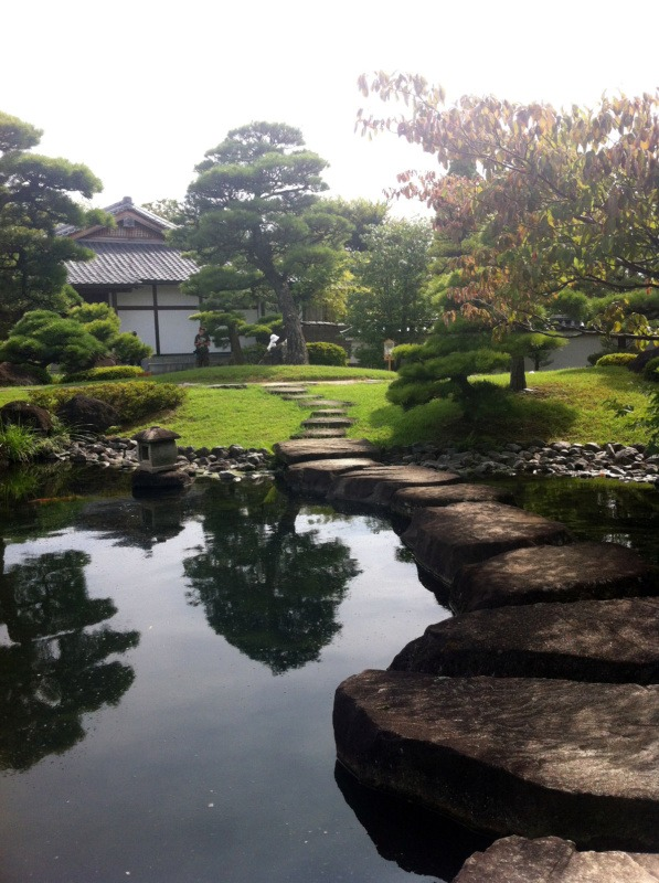 Japoński ogród Kōko-en (好古園) wHimeji, Japonia