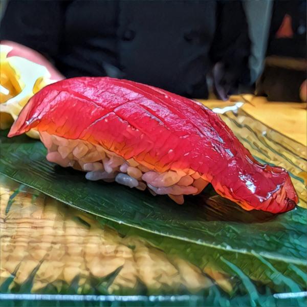 Rodzaje sushi: nigiri (nigirizushi) ztuńczykiem