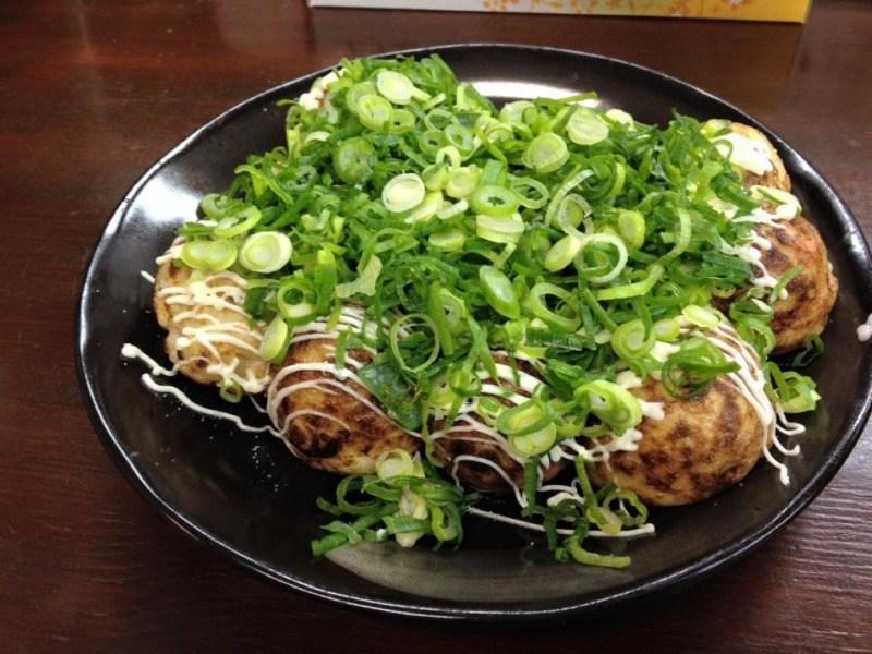 Takoyaki - kulki zciasta zośmiornicą