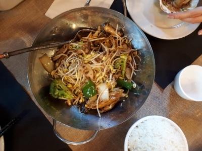 Tian House najlepsza chińska restauracja wWarszawie: warzywa itofu zwoka