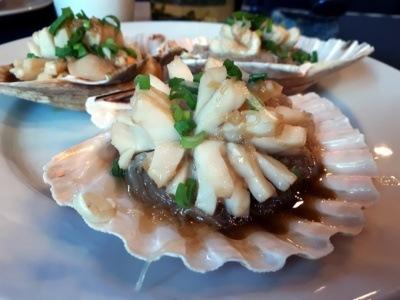 Tian House najlepsza chińska restauracja wWarszawie: małże św.Jakuba