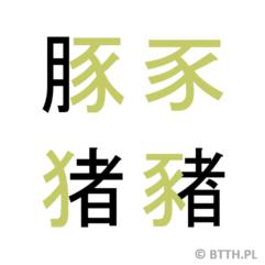 Kanji tygodnia: świnia (豚)