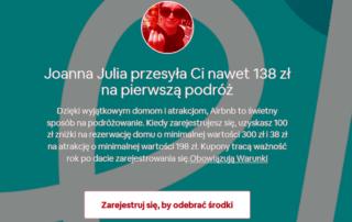 Zwiększony bonus Airbnb za rejestrację 138 zł