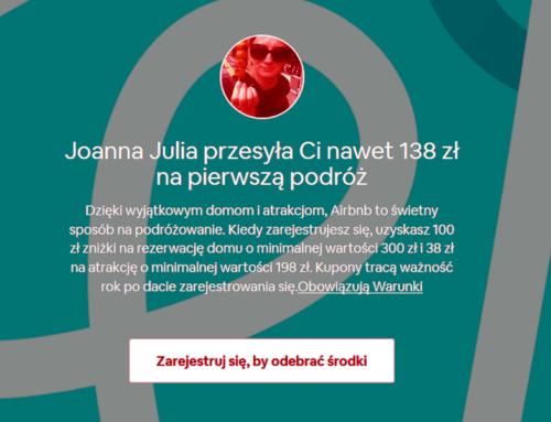 Zwiększony bonus Airbnb zarejestrację 138 zł