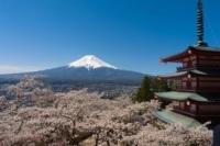 Góra Fuji: Widok nagórę Fuji ipagodę Chureito (fot.Małgorzata Jurkowska)