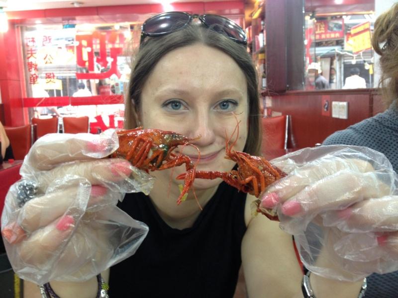Kuchnie Azji - kuchnia chińska z Szanghaju: krewetki z grilla