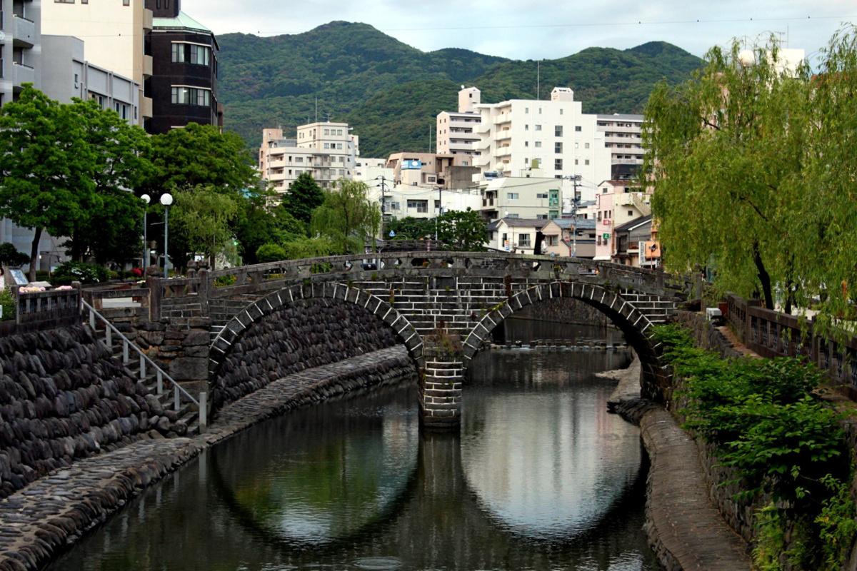 Ciekawe miejsca wJaponii: Most Okularowy - Meganebashi, Nagasaki (fot.Maja Balińska)