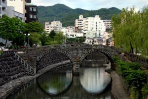 Ciekawe miejsca wJaponii: Most Okularowy - Meganebashi (Nagasaki)