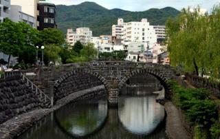 Ciekawe miejsca w Japonii: Most Okularowy - Meganebashi, Nagasaki (fot. Maja Balińska)