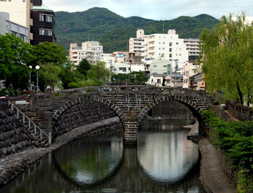 Ciekawe miejsca wJaponii: Most Okularowy – Meganebashi (Nagasaki)