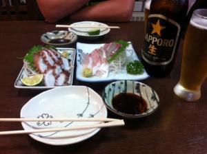 Izakaya: namabiru isashimi