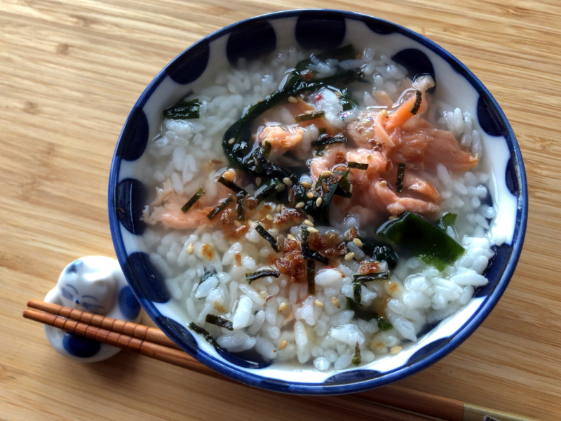 Recipe for ochazuke with Japanese kombucha