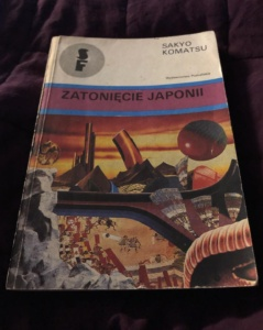"""Książka """"Zatonięcie Japonii"""" Sakyō Komatsu (1989)"""