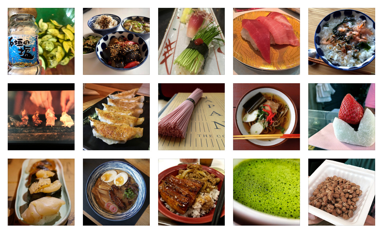 Kuchnia japońska mozaika - konkurs fotograficzny Tabemono 2020
