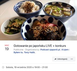 Gotowanie pojapońsku nażywo - transmisja LIVE oJaponii