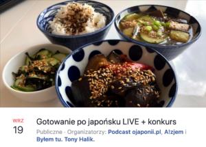 Gotowanie pojapońsku nażywo (zaproszenie naspotkanie LIVE)