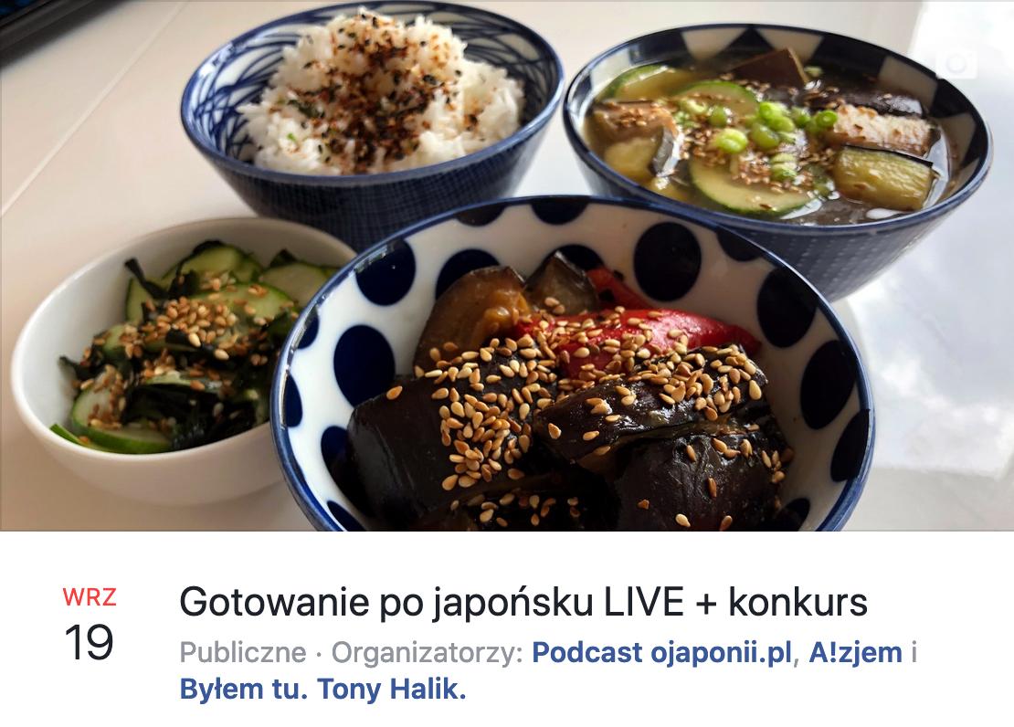 Gotowanie po japońsku na żywo - transmisja LIVE o Japonii