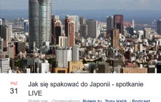 Jak się spakować doJaponii. Live opodróżach doJaponii