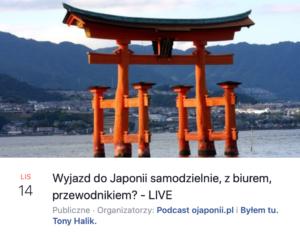 Wyjazd doJaponii - samodzielnie, zbiurem, czyzprzewodnikiem? (zaproszenie naspotkanie LIVE)
