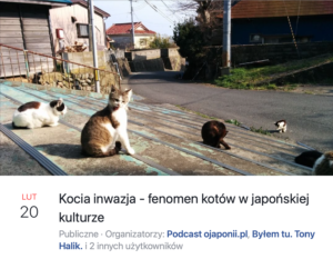 Kocia inwazja - koty wjapońskiej kulturze (zaproszenie naspotkanie LIVE)