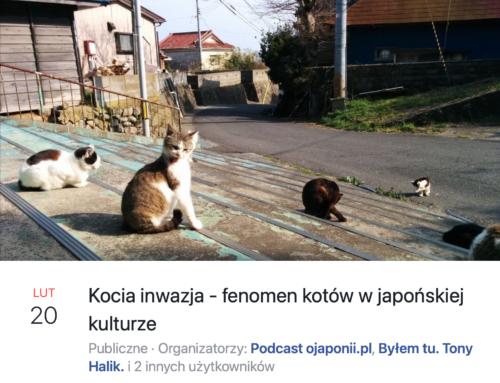 Kocia inwazja – koty wjapońskiej kulturze (zaproszenie naspotkanie LIVE)
