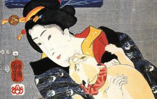 Utagawa Kuniyoshi: Kobieta ikot