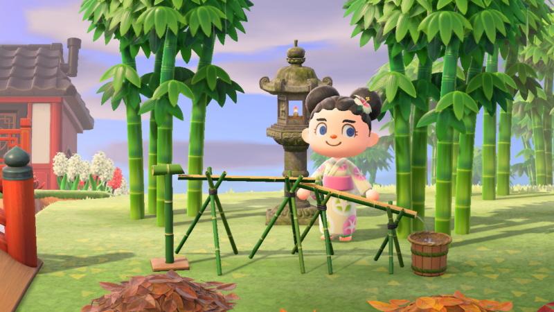 Nagashi somen ACNH (Animal Crossing New Horizons)