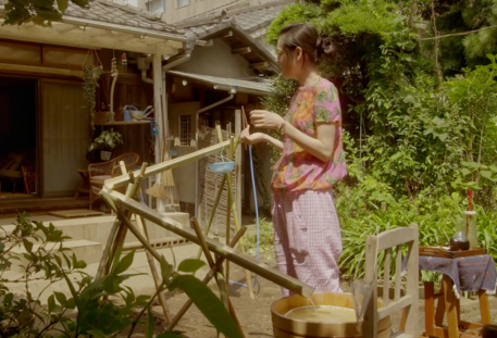 Rentaneko (Naoko Ogigami): nigashi somen noodles