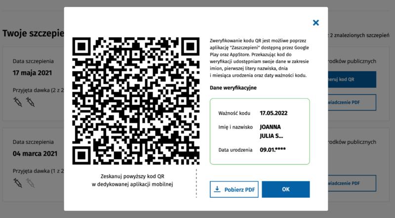 Paszport covidowy izaświadczenie oszczepieniu naCOVID-19. Jak uzyskać QR code.