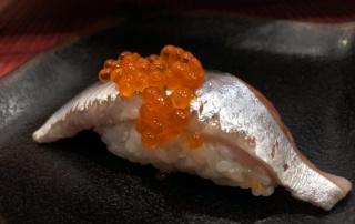 Buri Sushi kolacja degustacyjna: sanma nigiri zushi