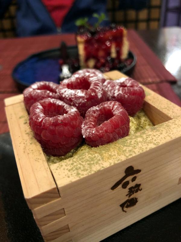 Buri Sushi kolacja degustacyjna: deser zmatcha imalinami