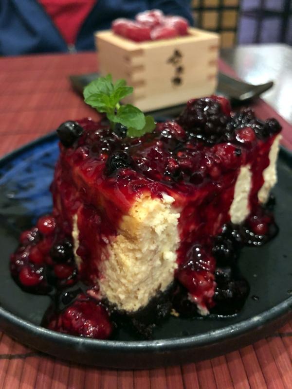 Buri Sushi kolacja degustacyjna: sernik zpastą miso
